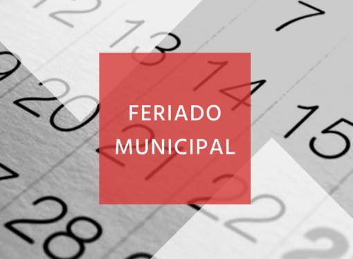 29 de abril é feriado Municipal