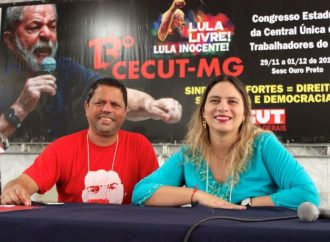 Emocionada, Beatriz Cerqueira se despede da presidência da CUT/MG