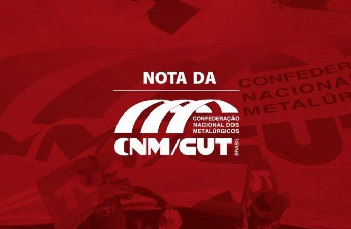 CNM/CUT protesta Medidas Provisórias que tiram direitos dos trabalhadores
